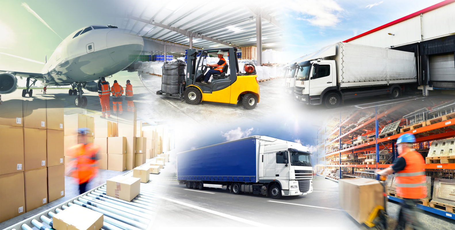 Warenlagerung und Gütertransport // logistics and shipping © industrieblick Fotolia
